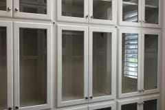 Custom Glass Front Closet Doors
