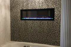 Electric  Fireplace In Batroom